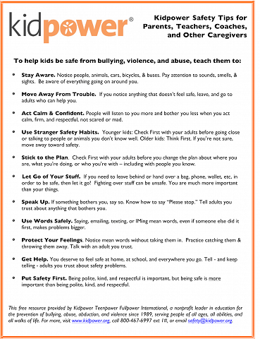 Kid Power - Safety Tips For Parents
