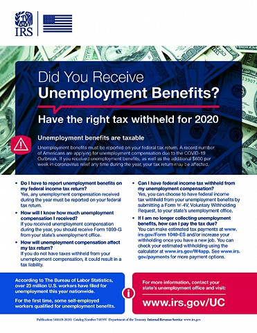 Unemployment Is Taxable